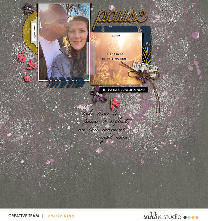 digital scrapbooking layout created by cassie king featuring Pause by Sahlin Studio
