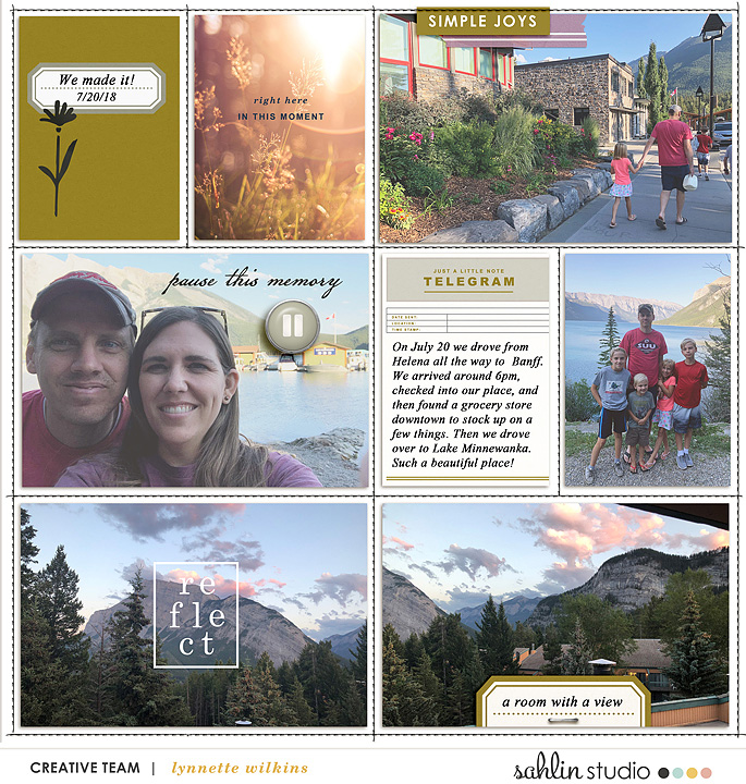 digital scrapbooking layout created by lynnette featuring Pause by Sahlin Studio