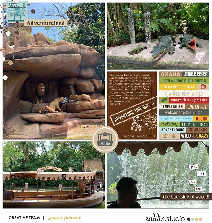 Adventureland Disney Animal Kingdom Lions Zoo Digital Project Life Scrapbooking Layout Project Mouse