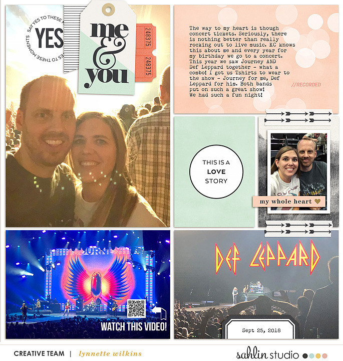 Me and You Digital Project Life layout