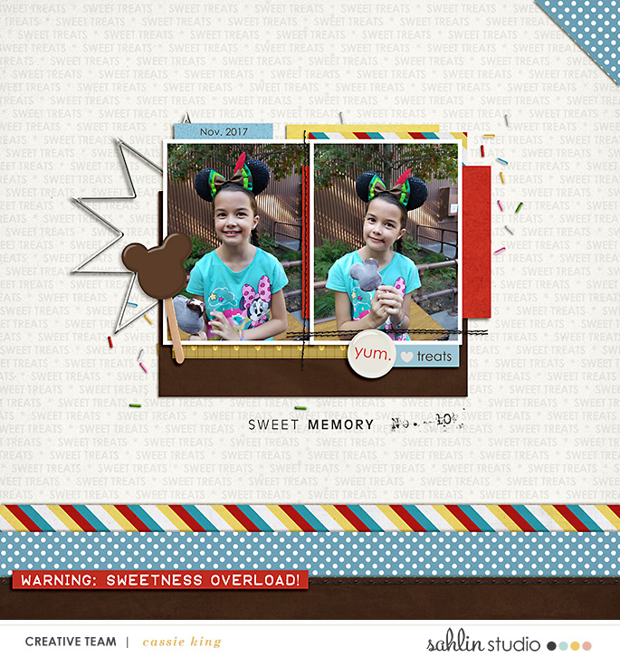 digital scrapbooking layout created by cassie king featuring Candy Shop by Sahlin Studio and Britt-ish Designs