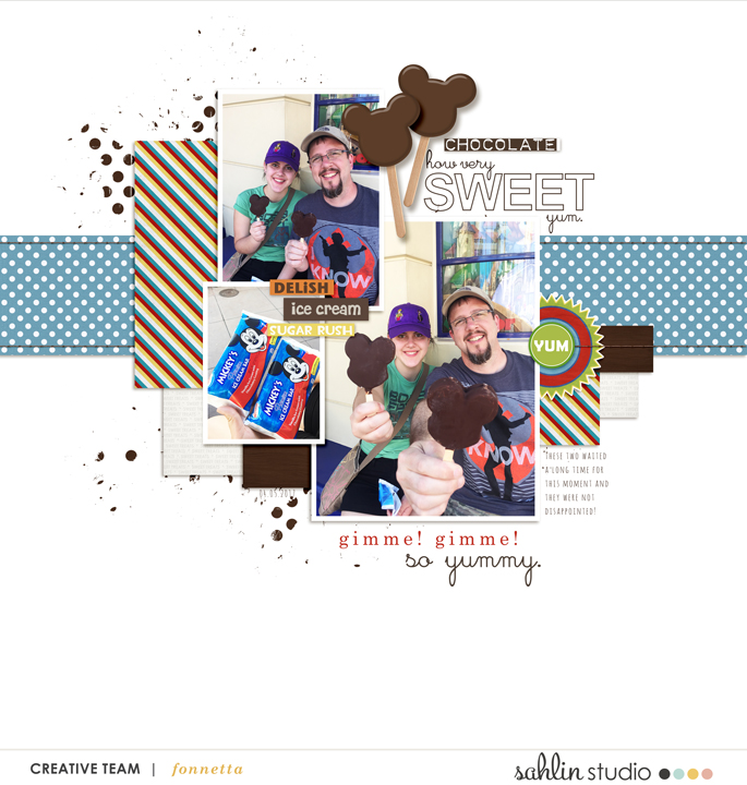 digital scrapbooking layout created by fonnetta featuring Candy Shop by Sahlin Studio and Britt-ish Designs
