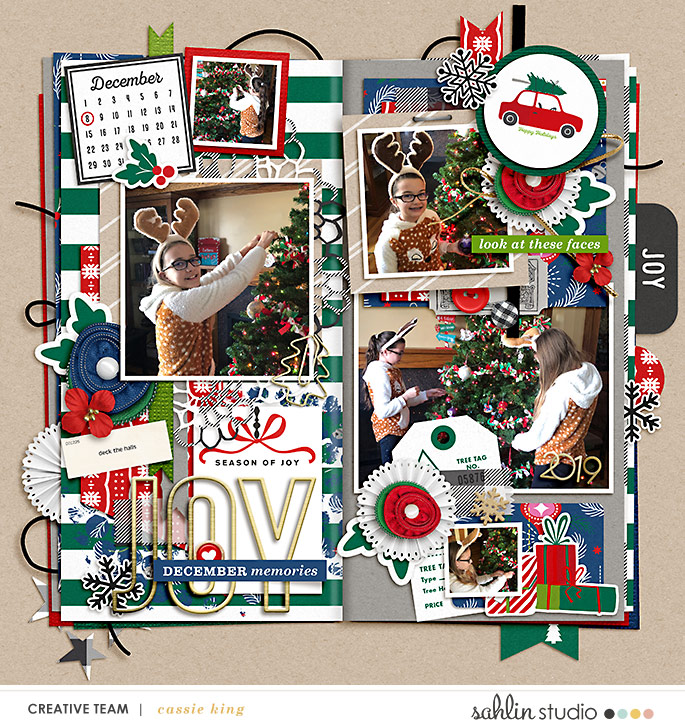 digital scrapbooking layout created by cassie king featuring Home for the Holidays by Sahlin Studio
