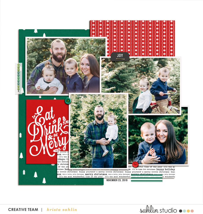 digital scrapbooking layout created by fonnetta featuring Home for the Holidays by Sahlin Studio