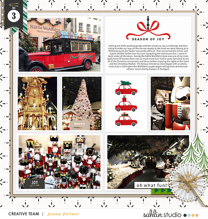 digital scrapbooking layout created by jenna featuring Home for the Holidays by Sahlin Studio