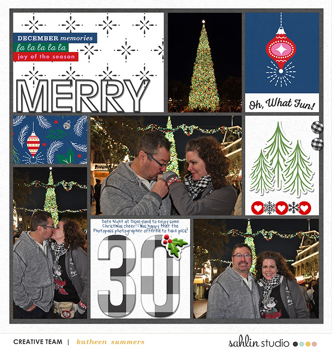 digital scrapbooking layout created by kathleen summers featuring Home for the Holidays by Sahlin Studio