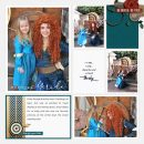 Meeting Merida Be Brave Be True - Touch the Sky digital Project Life scrapbook page layout using Project Mouse (Princess) Merida   Kit & Journal Cards by Britt-ish Designs and Sahlin Studio