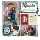 Meeting Merida Be Brave Be True - Touch the Sky digital Project Life scrapbook page layout using Project Mouse (Princess) Merida | Kit & Journal Cards by Britt-ish Designs and Sahlin Studio