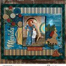 Meeting Merida Be Brave Be True digital scrapbook page layout using Project Mouse (Princess) Merida   Kit & Journal Cards by Britt-ish Designs and Sahlin Studio