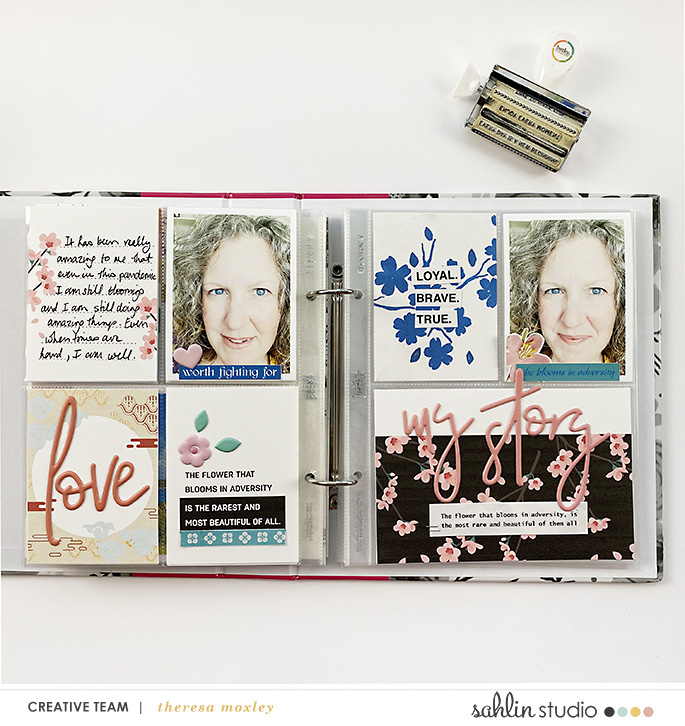 Loyal Brave True hybrid Project Life scrapbook page layout using Project Mouse (Princess) Mulan | Kit & Journal Cards by Britt-ish Designs and Sahlin Studio