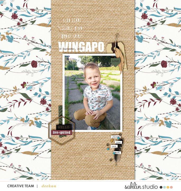 Wingapo digital scrapbook page layout using Project Mouse (Princess) Pocahontas | Kit & Journal Cards by Britt-ish Designs and Sahlin Studio