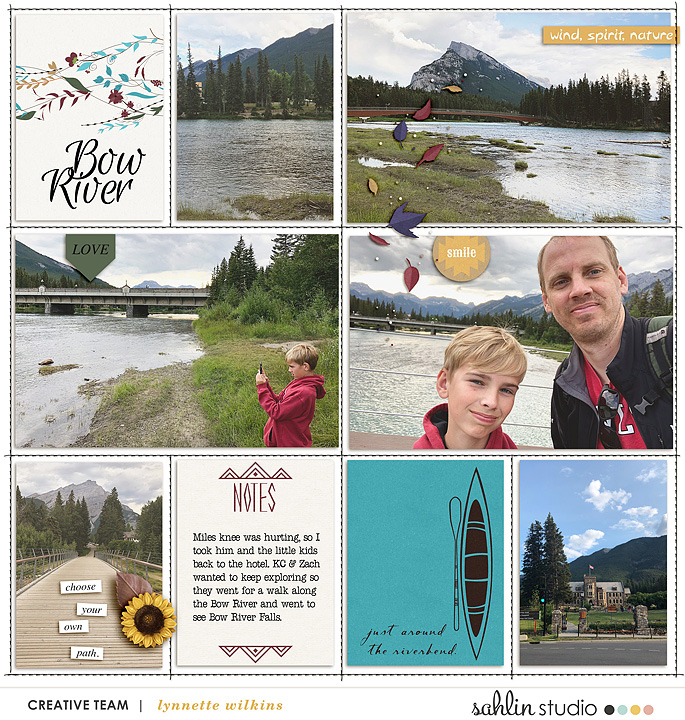 Just Around the River bend digital Project Life scrapbook page layout using Project Mouse (Princess) Pocahontas | Kit & Journal Cards by Britt-ish Designs and Sahlin Studio