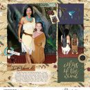 Colors of the Wind digital scrapbook page layout using Project Mouse (Princess) Pocahontas | Kit & Journal Cards by Britt-ish Designs and Sahlin Studio