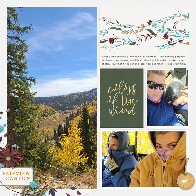 Colors of the Wind digital Project Life scrapbook page layout using Project Mouse (Princess) Pocahontas | Kit & Journal Cards by Britt-ish Designs and Sahlin Studio