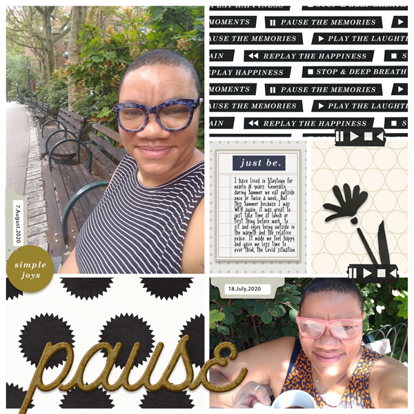 digital scrapbooking layout created by Claire Grantham featuring September 2020 FREE Template by Sahlin Studio