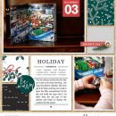 Holiday Favorites about Christmas digital scrapbooking Project Life layout using Favorite Things (Journal Cards) by Sahlin Studio