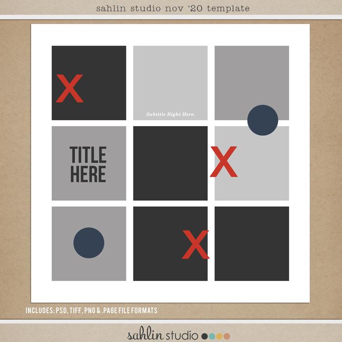 November 2020 FREE Template by Sahlin Studio