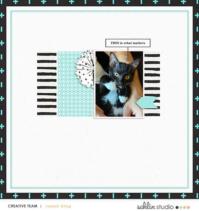 digital scrapbooking layout created by cassie king featuring December 2020 FREE Template by Sahlin Studio