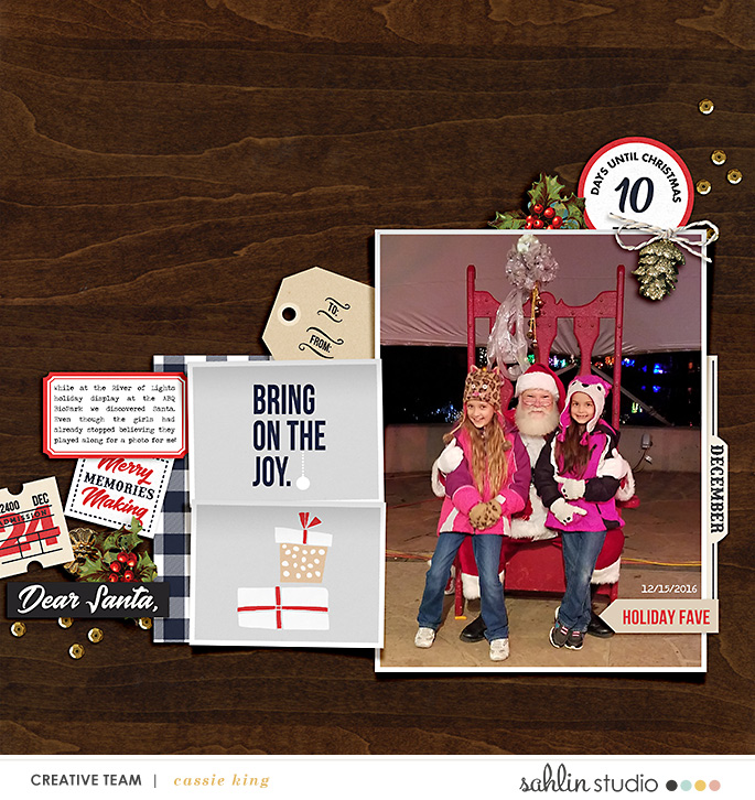 digital scrapbooking layout created by cassie king featuring December by Sahlin Studio