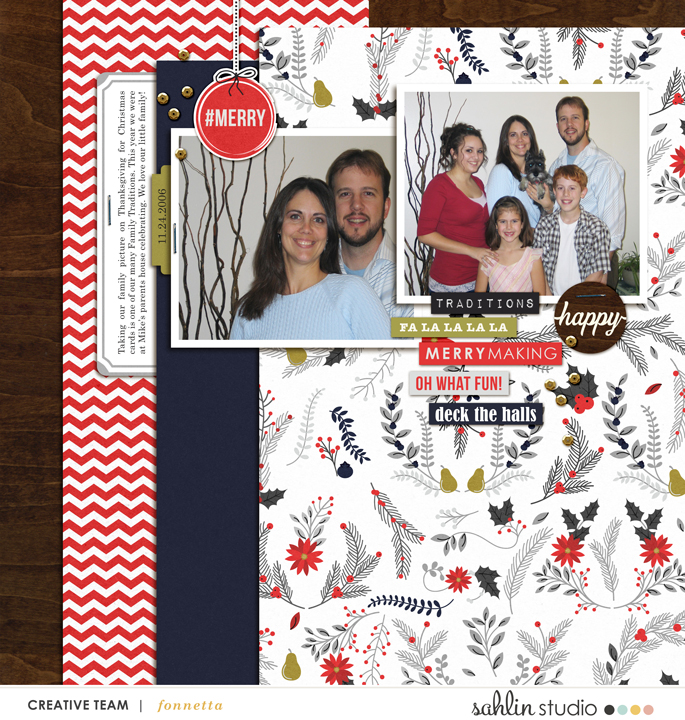 digital scrapbooking layout created by fonnetta featuring December by Sahlin Studio