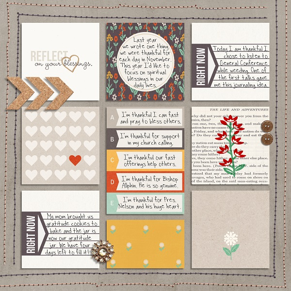 digital scrapbooking layout created by umyesh featuring November 2020 FREE Template by Sahlin Studio