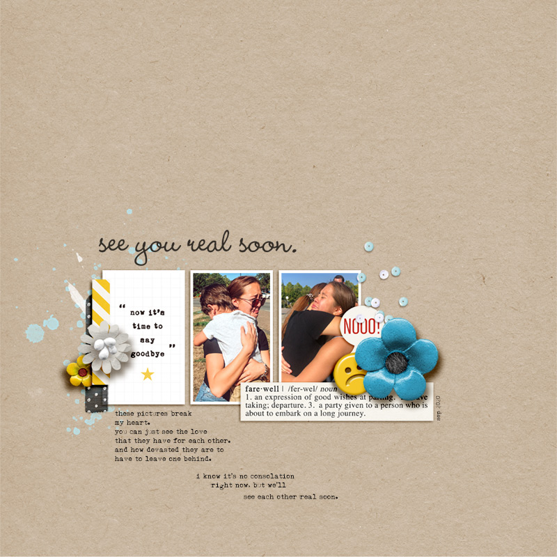 Goodbye digital scrapbooking layout using the Project Mouse (See Ya Real Soon) by Britt-ish Designs and Sahlin Studio
