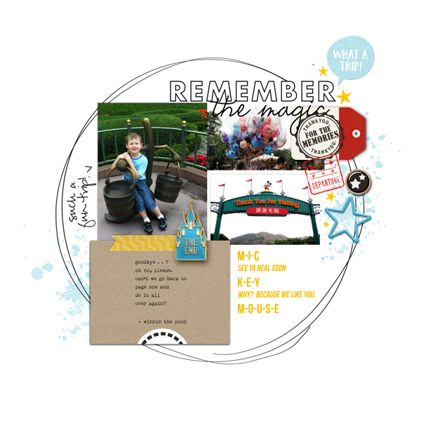 Cover Album Disney digital scrapbooking& layout using the Project Mouse (See Ya Real Soon) & Start to Finish Album Covers by Britt-ish Designs and Sahlin Studio