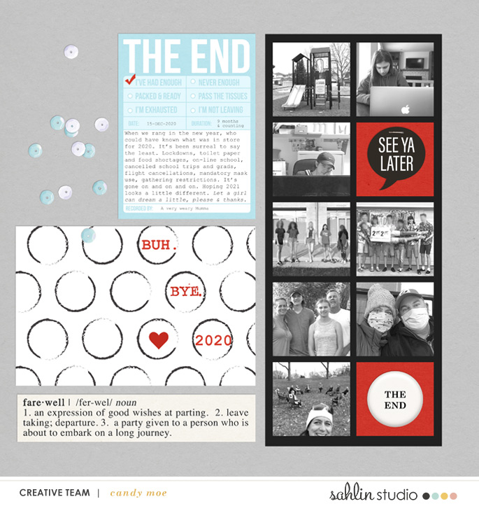 Goodbye 2020 - THE END digital scrapbooking layout using the Project Mouse (See Ya Real Soon) by Britt-ish Designs and Sahlin Studio