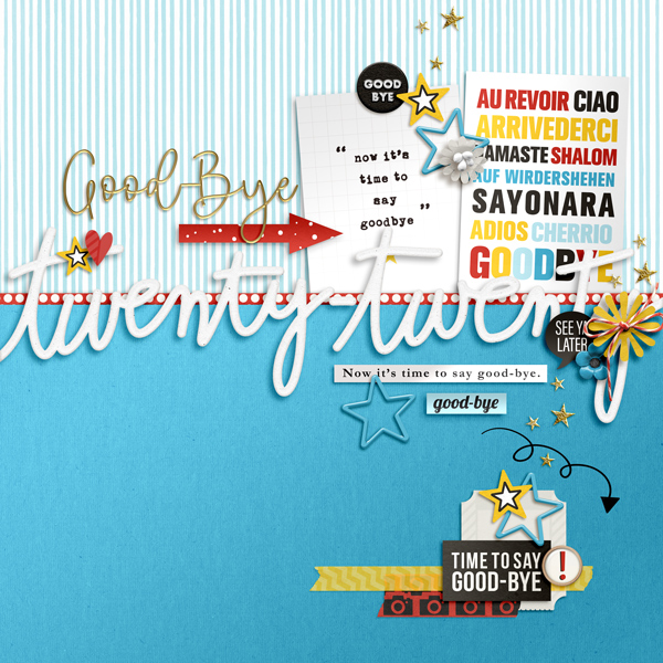 Goodbye 2020 digital scrapbooking layout using the Project Mouse (See Ya Real Soon) by Britt-ish Designs and Sahlin Studio