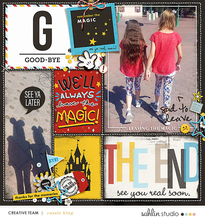 The End - Goodbye Disney digital scrapbooking Project Life layout using the Project Mouse (See Ya Real Soon) by Britt-ish Designs and Sahlin Studio