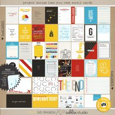 Project Mouse (See Ya Real Soon) Journal Cards by Britt-ish Designs and Sahlin Studio