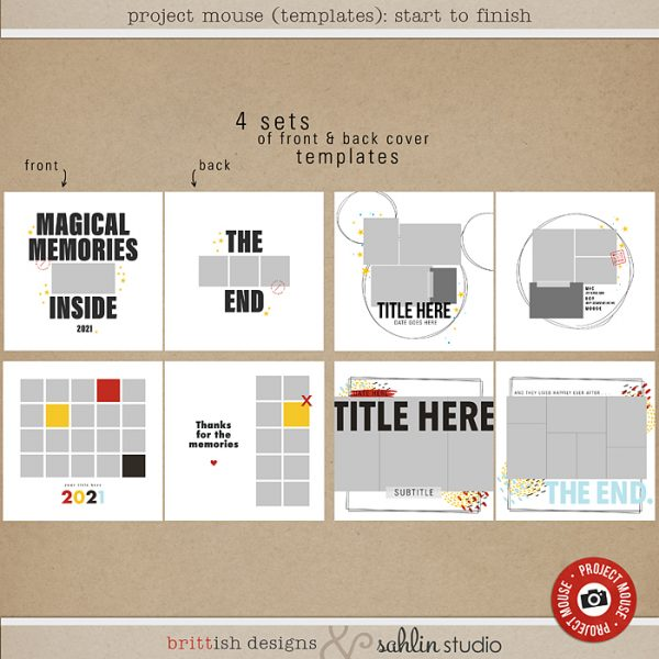 Project Mouse (Templates) Start to Finish by Britt-ish Designs and Sahlin Studio