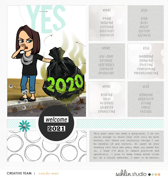 digital scrapbooking layout created by ctmm4 featuring January 2021 FREE Template by Sahlin Studio