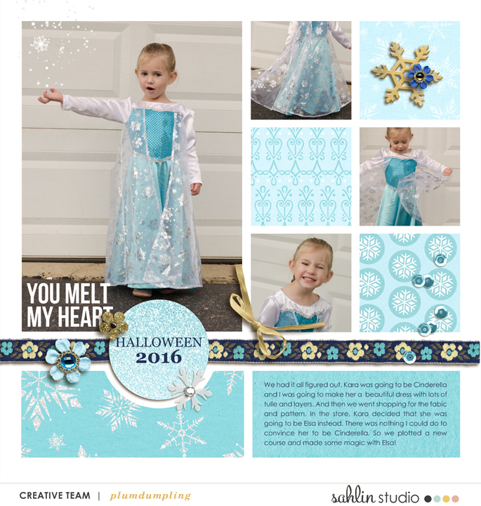 digital scrapbooking layout created by plumdumpling featuring January 2021 FREE Template by Sahlin Studio