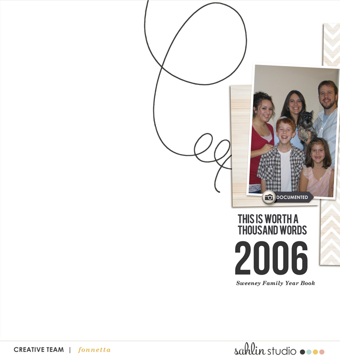 digital scrapbooking layout created by fonnetta featuring Worth a Thousand Words by Sahlin Stuio