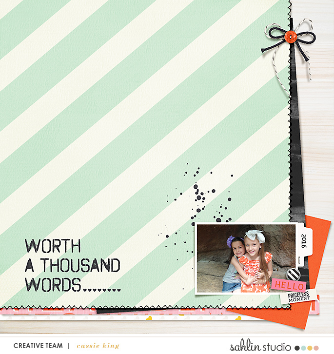 digital scrapbooking layout created by kingsqueen82 featuring Worth a Thousand Words by Sahlin Stuio
