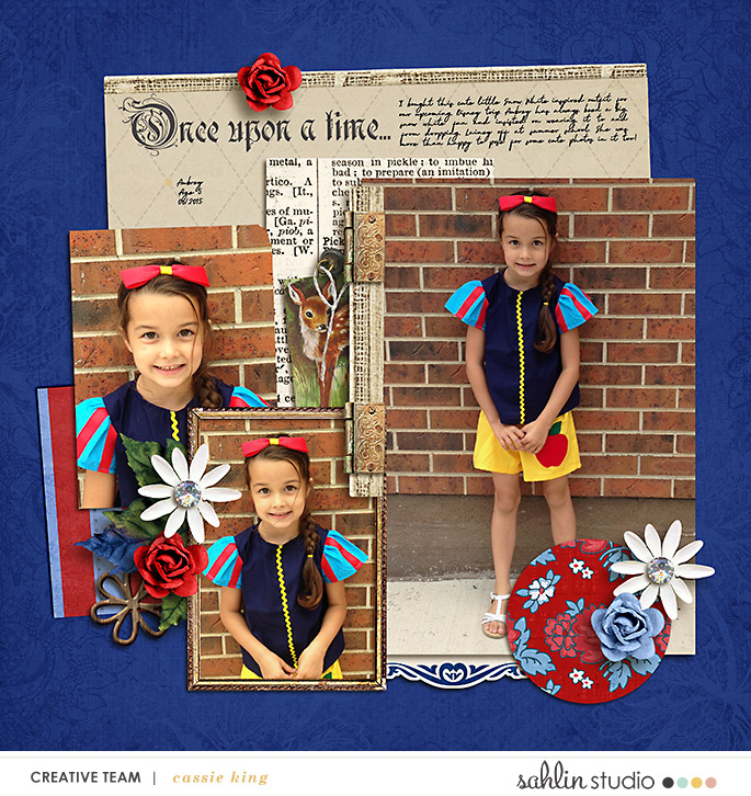 digital scrapbooking layout created by cassie king featuring templates and quickpages by Sahlin Studio