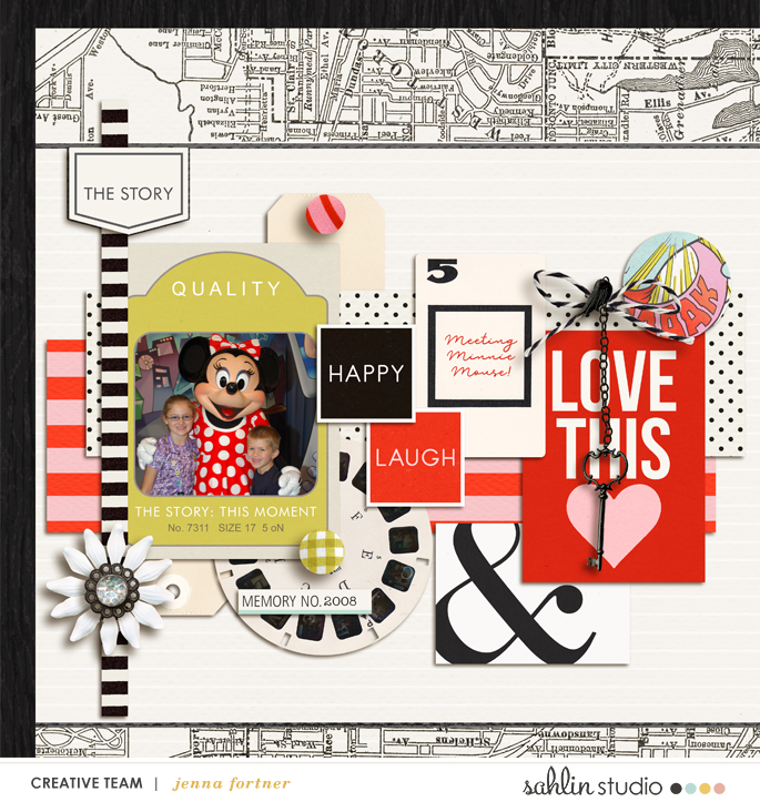 digital scrapbooking layout created by jenna featuring templates and quickpages by Sahlin Studio
