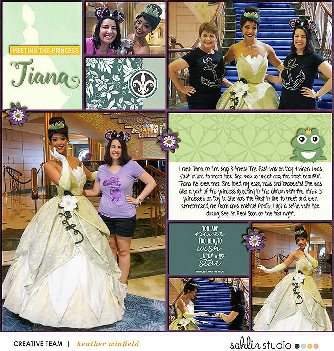 digital scrapbooking layout created by heather winfield featuring templates and quickpages by Sahlin Studio