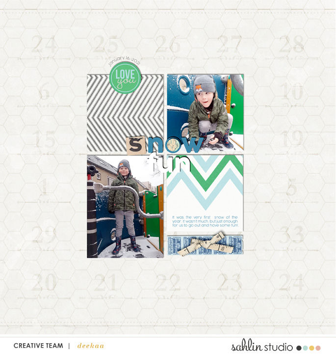 digital scrapbooking layout created by deekaa featuring Down the Lane by Sahlin Studio