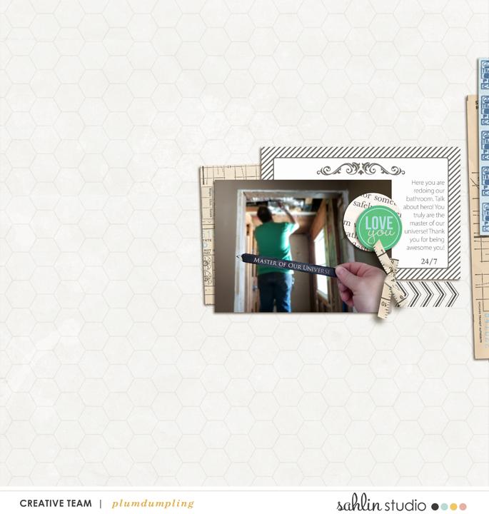 digital scrapbooking layout created by plumdumpling featuring Down the Lane by Sahlin Studio