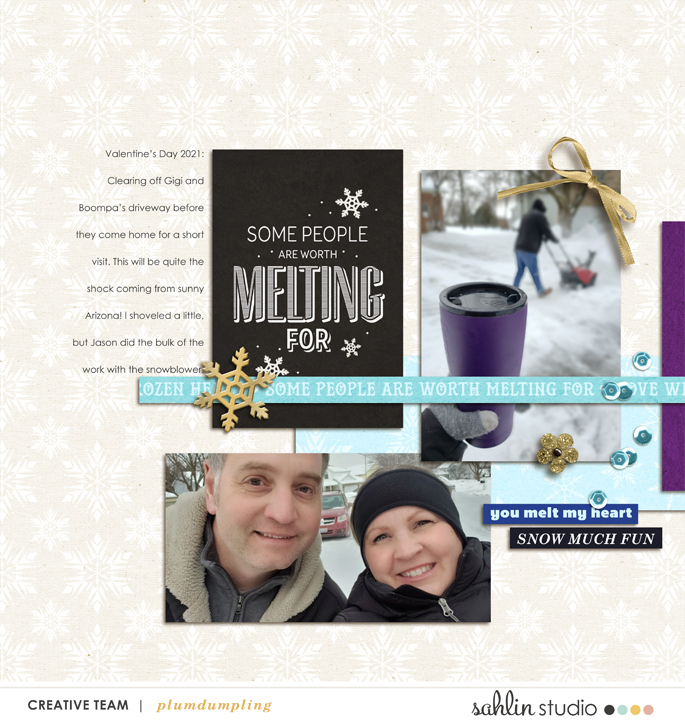 digital scrapbooking layout created by plumdumpling featuring March 2021 FREE Template by Sahlin Studio