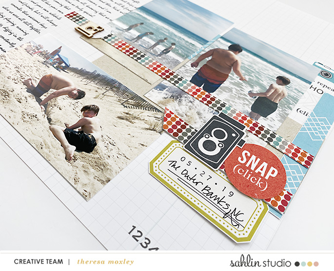digital scrapbooking layout created by Theresa Moxley featuring March 2021 FREE Template by Sahlin Studio