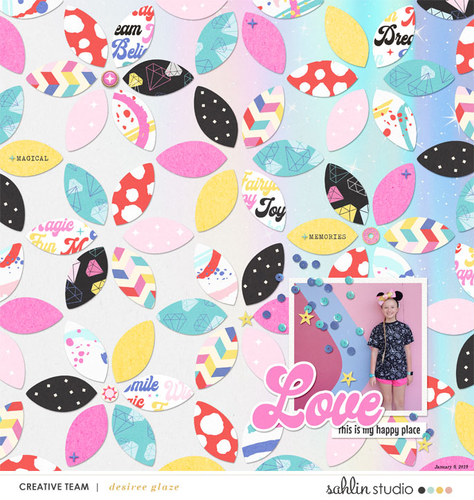 Disney LOVE Digital Scrapbooking Layout using Project Mouse (Pop) by Britt-ish Designs
