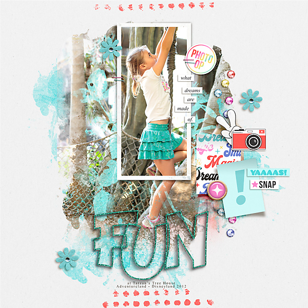 FUN Digital Scrapbooking Layout using Project Mouse (Pop) by Britt-ish Designs