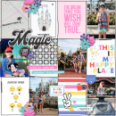 Disney the Dream that you Wish will Come True Digital Project Life scrapbook layout using Project Mouse (Pop) by Britt-ish Designs