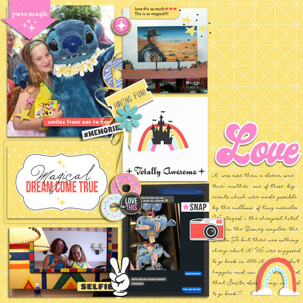 Magical Dreams Come True Disney Digital Scrapbooking layout scrapbook layout using Project Mouse (Pop) by Britt-ish Designs