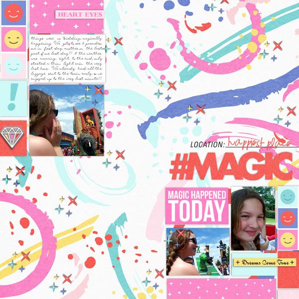 Magic Disney Digital Scrapbooking layout scrapbook layout using Project Mouse (Pop) by Britt-ish Designs