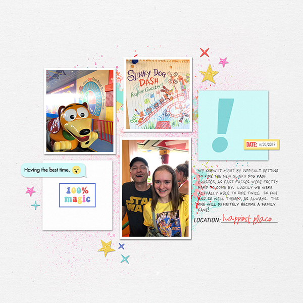 Disney Memories Digital Project Life scrapbook layout using Project Mouse (Pop) by Britt-ish Designs