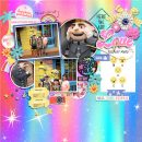 Universal Studios Minons Digital Scrapbooking Layout using Project Mouse (Pop) by Britt-ish Designs